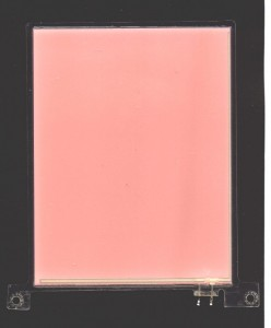 EL-Panel, pink-white, 87mm x 112mm, laminated