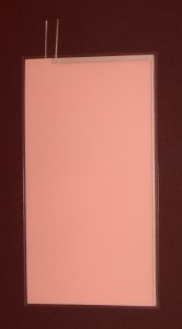 EL-Panel, pink-white, 67mm x 123mm, laminated