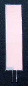 EL-Panel, pink-white, 28mm x 108mm, laminated