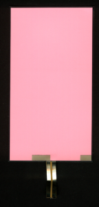 EL-Panel, pink-white, 77mm x 140mm, laminated