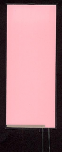 EL-Panel, pink-white, 39mm x 93mm, laminated