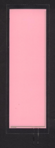EL-Panel, pink-white, 52mm x 155mm, laminated