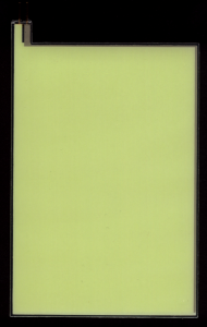 EL-Panel, green, 93mm x 135mm, laminated